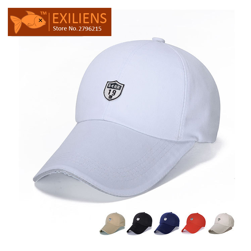 EXILIENS  2017 Fashion Brand Baseball Cap Cotton Leather LOGO 19 Snapback  Caps Strapback Hip 42686805a3cb