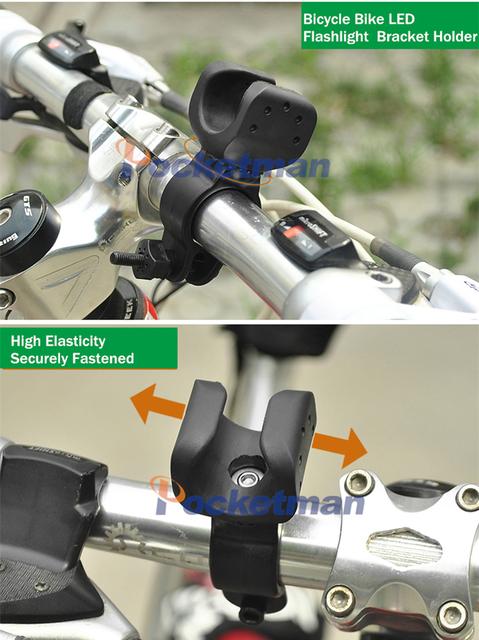 High Quality Universal 360 Swivel Led Bicycle Light Torch Clip Clamp LED Flashlight  Bike Mount Bracket Holder