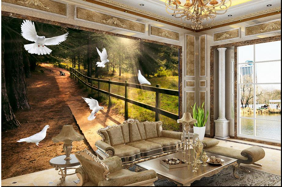 Customize 3d Wallpaper Wall Murals Nature Birds Figure 3d Wall Mural Wall  Paper 3d Photo Wallpapers