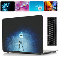 2019 New Print Pattern Protective Hard Shell Case Keyboard Cover Skin For 11 12 13 15Apple Macbook Air Pro Retina Touch Bar