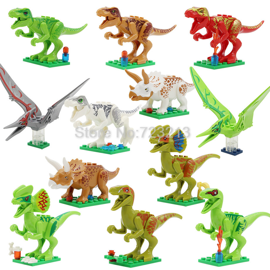 12pcs  lot jurrassic legoingly jurassic dinosaur set animal