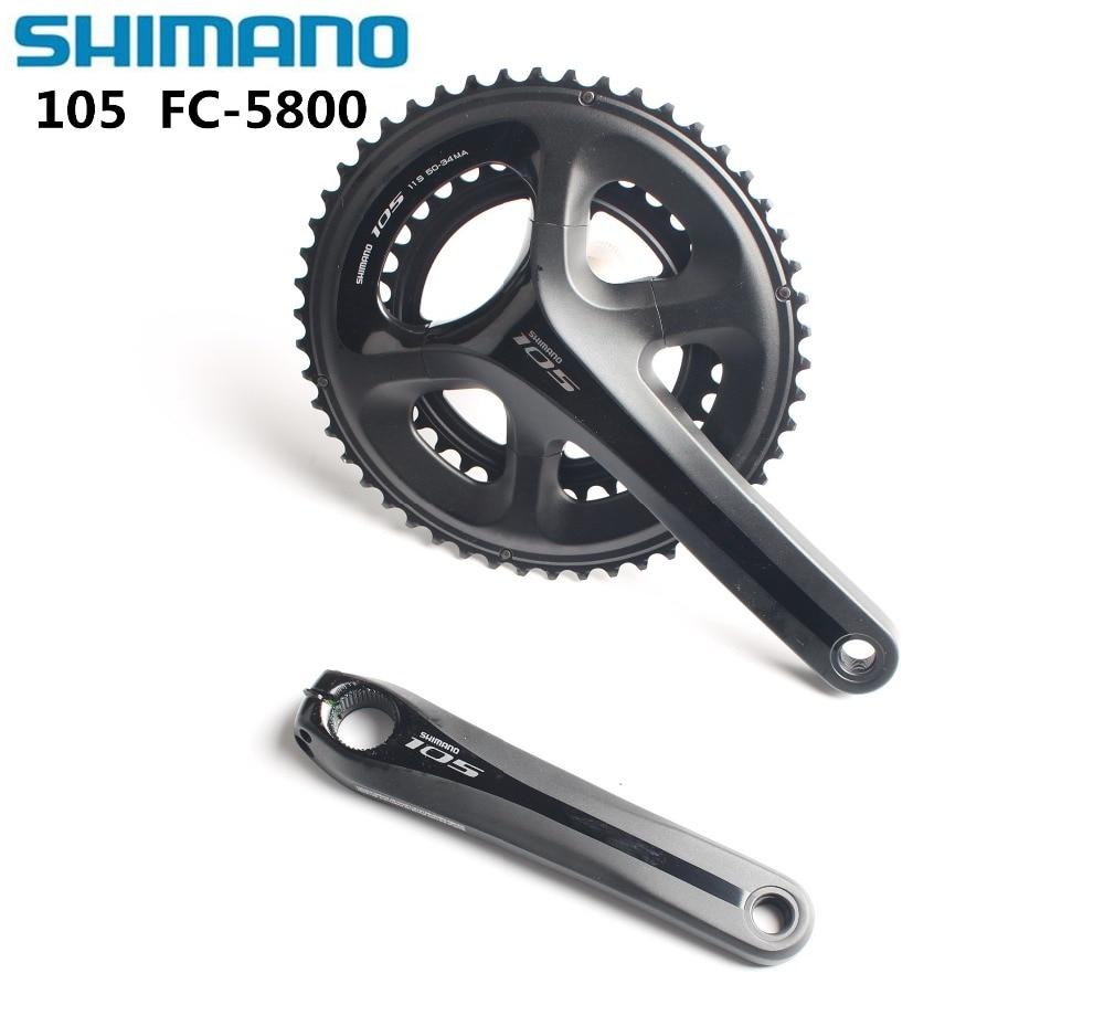 20f29f2cf5c Shimano FC-5800 105 11 SPD Speed Road Double Crankset 50X34 53 39 170 172.5  175 Cycling Silver black