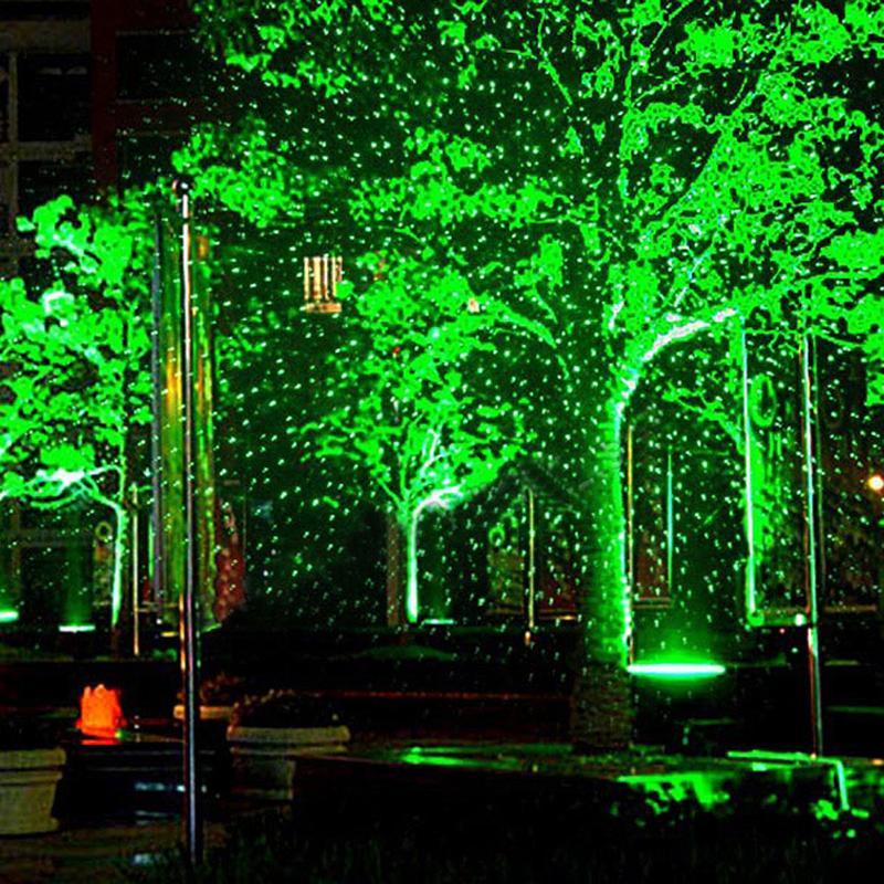 DIU# RG Waterproof Outdoor Landscape Garden Romate Laser Light Xmas Starry sky pattern waterproof stage light diu wonderful r