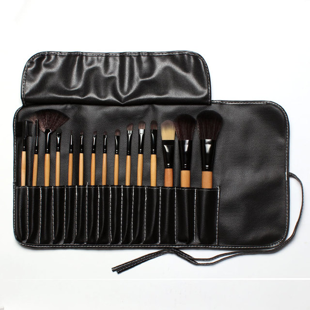 15 Pcs High Quality Make Up Brushes with Leather Pouch