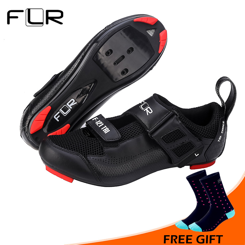 FLR Professional Triathlon Cycling Shoes Breathable Road Bike Shoes Sneakers Men Athletic Ultralight Bicycle Shoes Zapatos