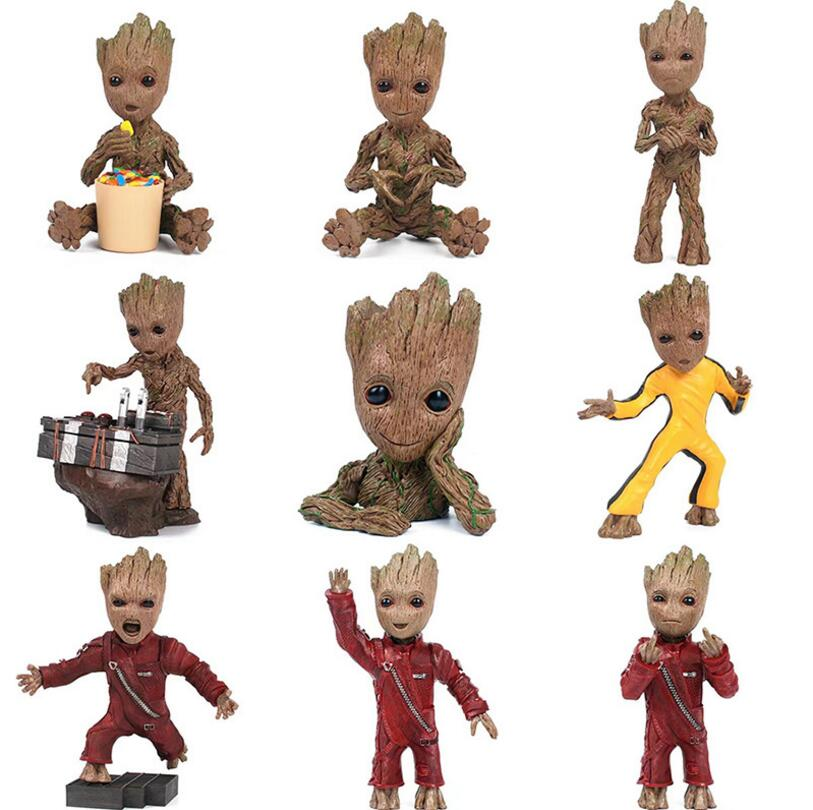 2018 Marvel Movie Figures Toys Guardians of Galaxy Vol 2 Dancing Tree Man Figuras Brinquedos Stranger Things Dragon ball Dolls guardians team up vol 2