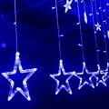 EE. UU. Luces de la Cortina 2 M * 0.6 M 138 Led String Luz de Navidad Guirnalda De La Boda Cortina de Cuerda Lámparas Al Aire Libre 4 colores VES12 T16 0.4