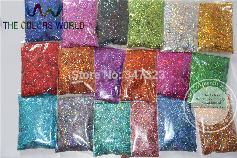 24 Laser Holographic Colors 1MM Laser Glitter Spangles for nail design,art and craft accessories laser head owx8060 owy8075 onp8170