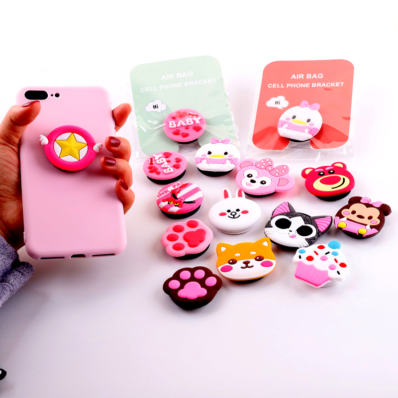 3D Lucky Cartoon Expanding Stand And Grip For Your Mobile Phones Universale Finger Ring Holder For IPhone 6 6s 7 Plus XS