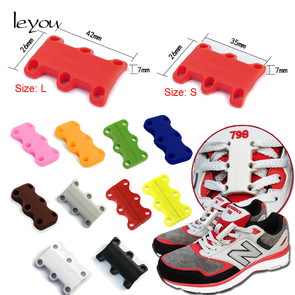 Leyou Buckle No-Tie Shoelace Magnetic ShoelaceSport Shoe Belt Shoelaces Children And Adult Shoestrings Magnetic Closure