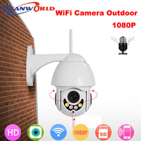 Heanworld WiFi PTZ Camera 1080P Outdoor 2MP High Speed Dome Wireless IP Camera with Microphone SD Card Slot Video Surveillance
