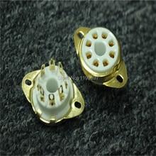 2PCS 8Pin Tube Socket Ceramic Base For  KT88 KT66 EL34 6SN7 GZ34 5881 6V6 5U4G 6550 Tube Ceramic Socket  Free Shipping
