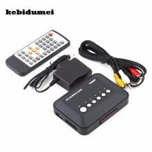 Kebidumei reproductor multimedia con mando a distancia IR, USB 2,0, 1080P, HD, SD/MMC, SD, MMC, RMVB, MP3, 5V, 2A, TV múltiple, USB, HDMI