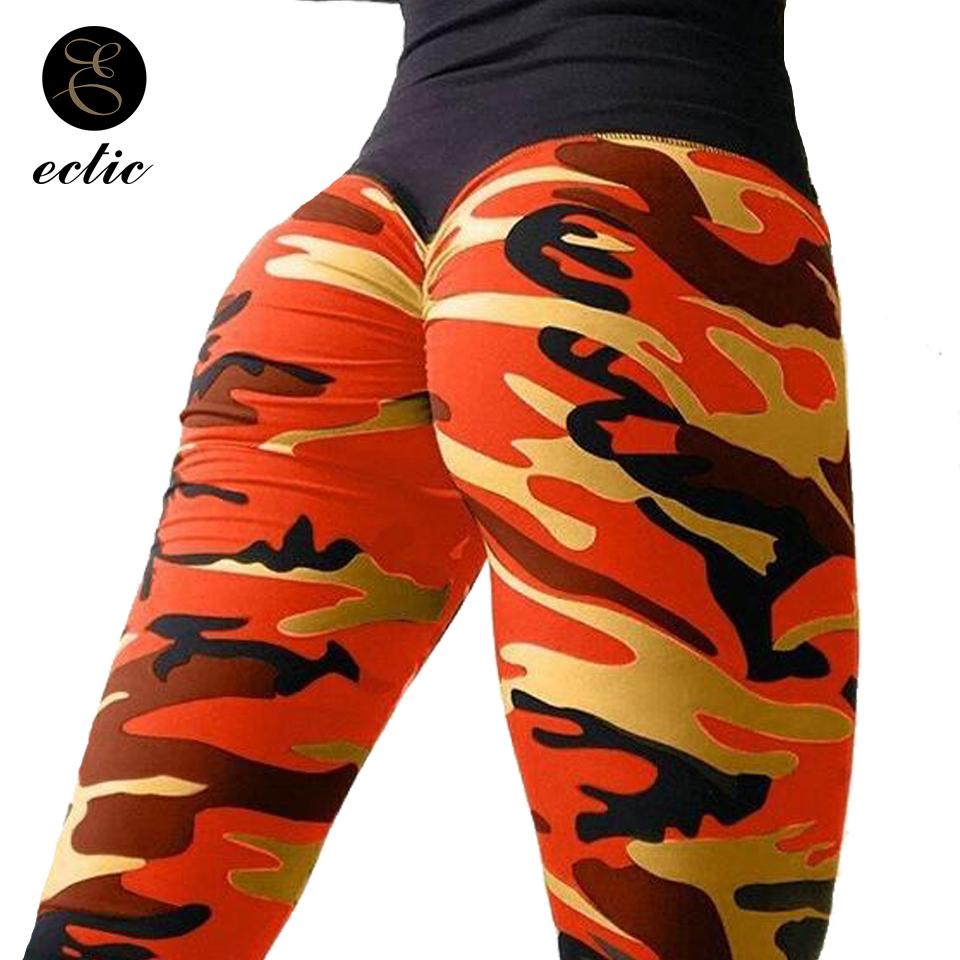 Pink Camo   Leggings   Camouflage Sexy Digital Pencil Ruched Booty Scrunch   Leggings   Women Gym High Waist Push Up   Leggings   Patchwork