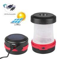 Led 텔레스코픽 태양 랜턴 휴대용 led 램프 3 모드 usb 충전식 접이식 방수 ipx5 라이트 야외 캠핑 라이트