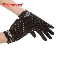 Nouveau Kenmont Femmes D'été de Madame Girl Dot Design 100% Coton Soleil UV Protection Gants de Conduite 2967