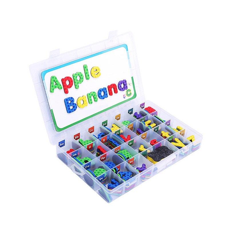 Nowa moda Arrival magnetyczne pianki litery zestaw klasie alfabetów ustawić z magnesem pokładzie pisowni dla dzieci i uczenia się