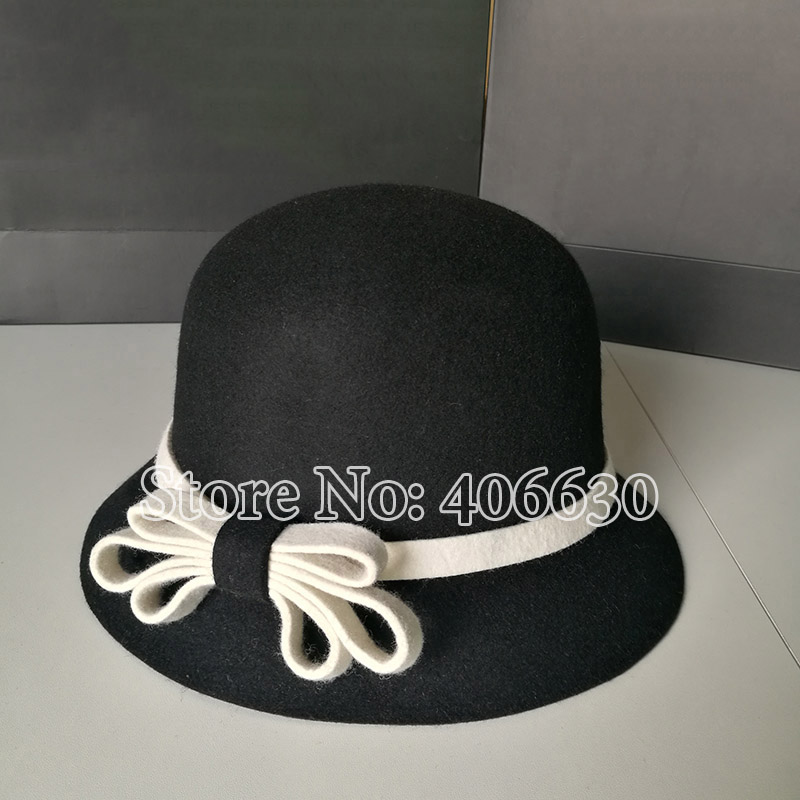 16 Colores Evento de boda de alta calidad 100/% Lana Fieltro Sombrero Con Forro De Satén