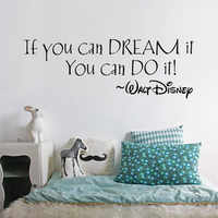 IF YOU CAN DREAM IT Inspiring Quotes Wall Mural For Home Bedroom Decoration Wall Sticker Decal Wall Mural For Nursery Room Y-316