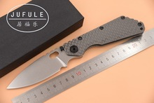 JUFULE custom SMF TC4 Titanium handle D2 blade Copper washer Folding hunt camping outdoor Tactical multi EDC Tool kitchen knife
