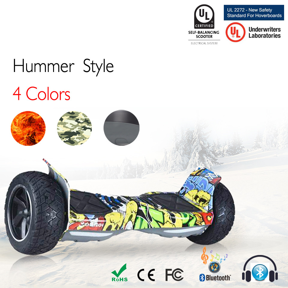 8.5 Tout Terrain Bluetooth Hoverboard Auto Équilibrage Off Route 2 Roue Électrique Scooter 8.5 Pouces Hoverboard Balance Board Oxboard