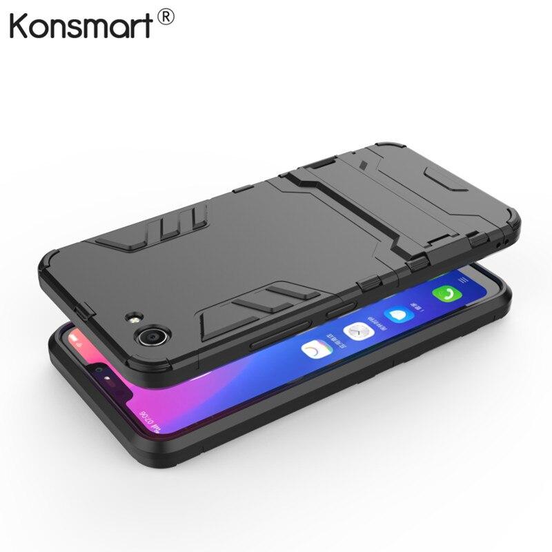 VIVO Y81 Case 6.22 inch Luxury Hybrid Silicone + TPU Back Cover Phone Case VIVO Y81 Y 81 VIVOY81 Cover Protective 64GB Konsmart