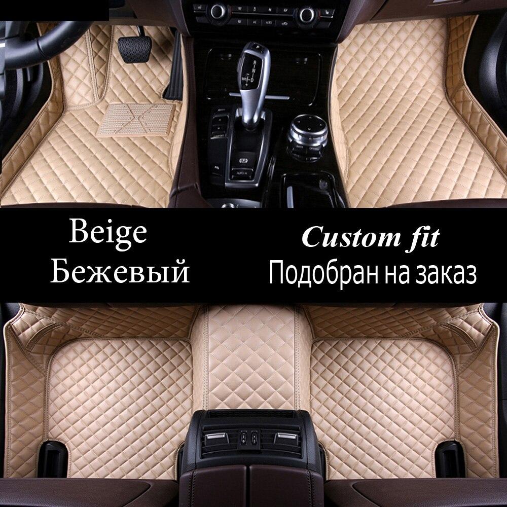 Car floor mats for Hyundai ix25 ix35 SantaFe Sonata Solaris Tucson verna Veloster 5D carstyling carpet liner