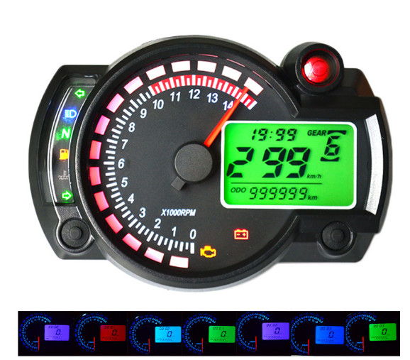 Newest Koso Rx2n Similar Lcd Digital Motorcycle Odometer