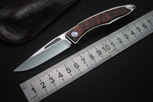 лучшая цена CH01 folding knife pocket M390 blade Titanium/wood handle tactical flipper camping knives survival EDC kitchen hunting multitool