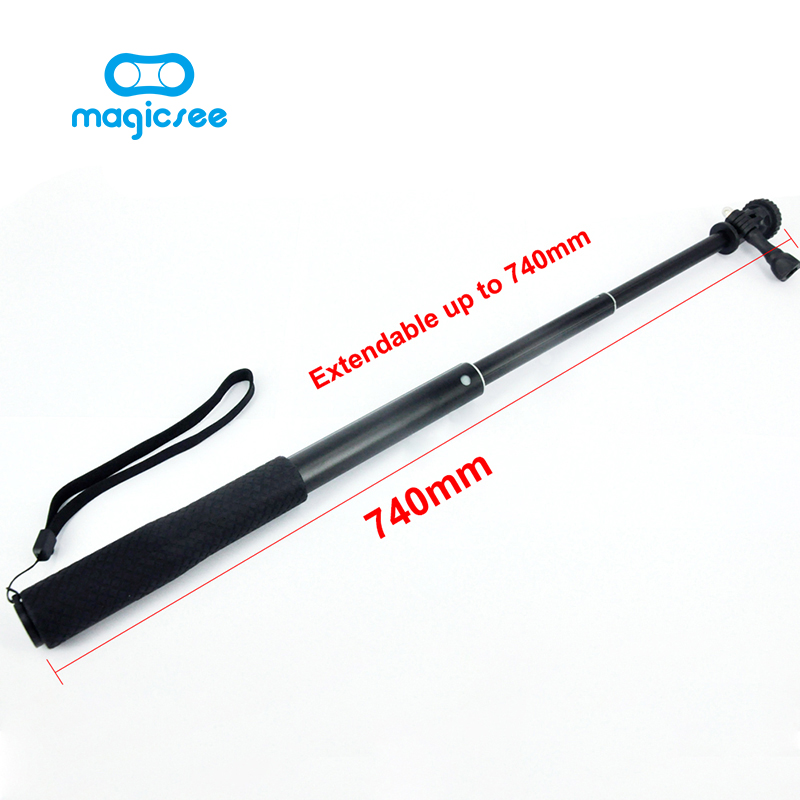 Magicsee Extendable Handheld Stick Telescopic Sefie Monopod for magicsee P3 Gopro Hero 4 SJ5000 F60 EKEN H3 H8 H9 V1 Camera