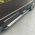 De coches de Estilo Tablero de Pie de Aleación De Aluminio Paso Lateral Estribo Para Hyundai Santa Fe/IX45 2013 2014 2015 Lateral Pedal