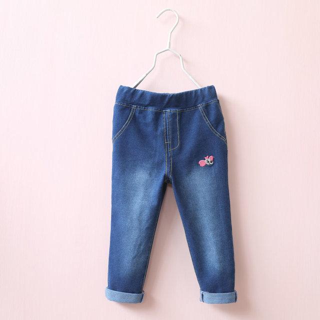 Otoño bebés de los pantalones vaqueros pantalones pantalones de los niños suave de algodón de invierno bordado elefante niños pantalones envío de la gota
