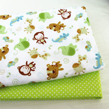 50x40cm Cotton Patchwork Cloth, Printed Monkey 100% Cotton Twill Fabric,DIY Sewing Quilting Fat Quarters Material For Baby&Child(China)
