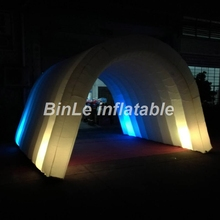 BINLE 3x3x4m small inflatable dome with colorful LED tunnel & Buy small canopy tent and get free shipping on AliExpress.com