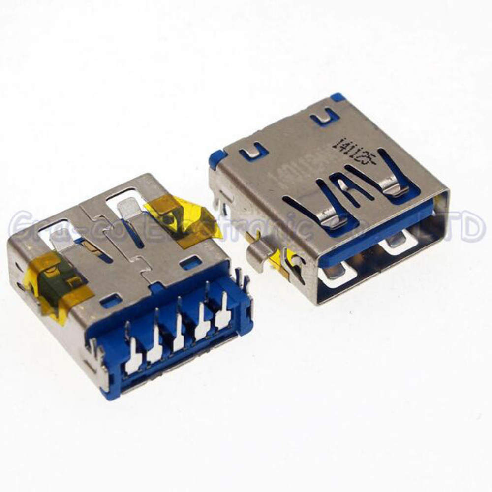 25pcs/lot For Lenovo Dell HP etc motherboard 3.0 USB interface USB 3.0 Connector copper down