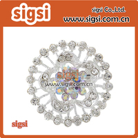Sparkling latest brooch design Wedding Bouquets Crystal Rhinestones Flower Brooch Pins for Women