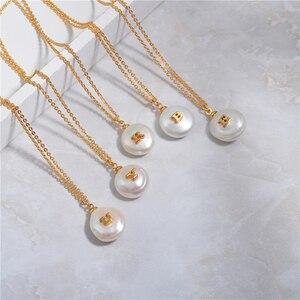 Image 3 - Barocke Perle Brief Halskette Weibliche Flut Tropfen Europäischen und Amerikanischen Erweiterte Sinn Französisch Revolutionäre Schlüsselbein