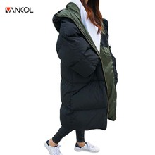 vancol 2016 winterjas dames plus size quilted thickness womens winter jackets and coats hooded black parkas for women winter