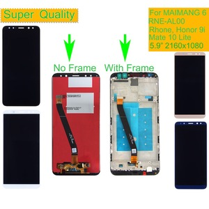 Image 1 - 10Pcs עבור Huawei MAIMANG 6 RNE AL00 רון נובה 2i LCD תצוגת מסך מגע Digitizer עצרת עם מסגרת כבוד 9i mate 10 לייט