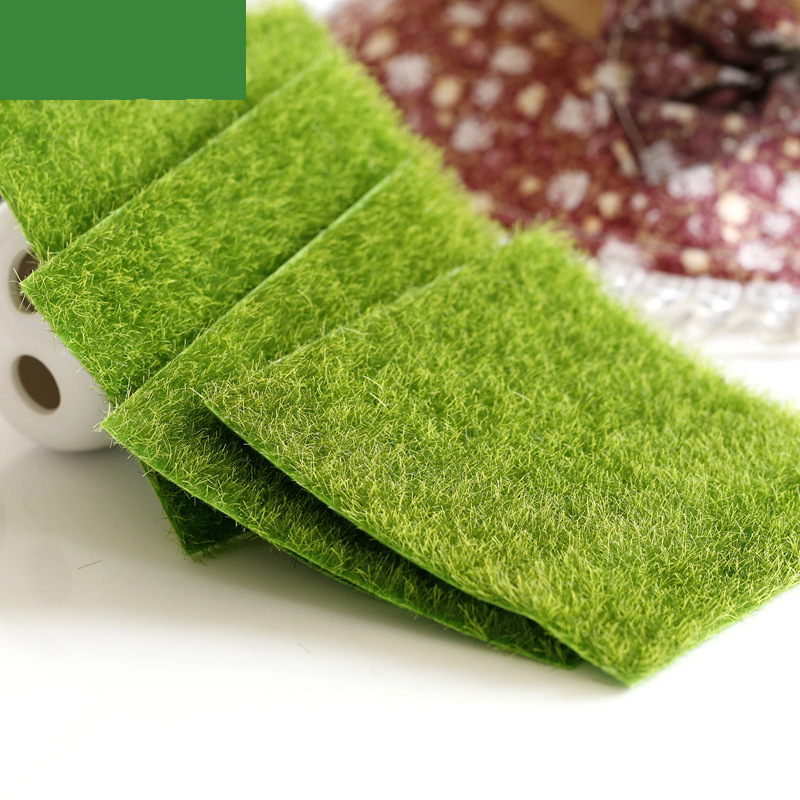 30*30cm Square Green Lawns Natural Artificial Grass Carpet Home Garden Floor Moss Decoration Kids DIY Assembling Puzzles Toys