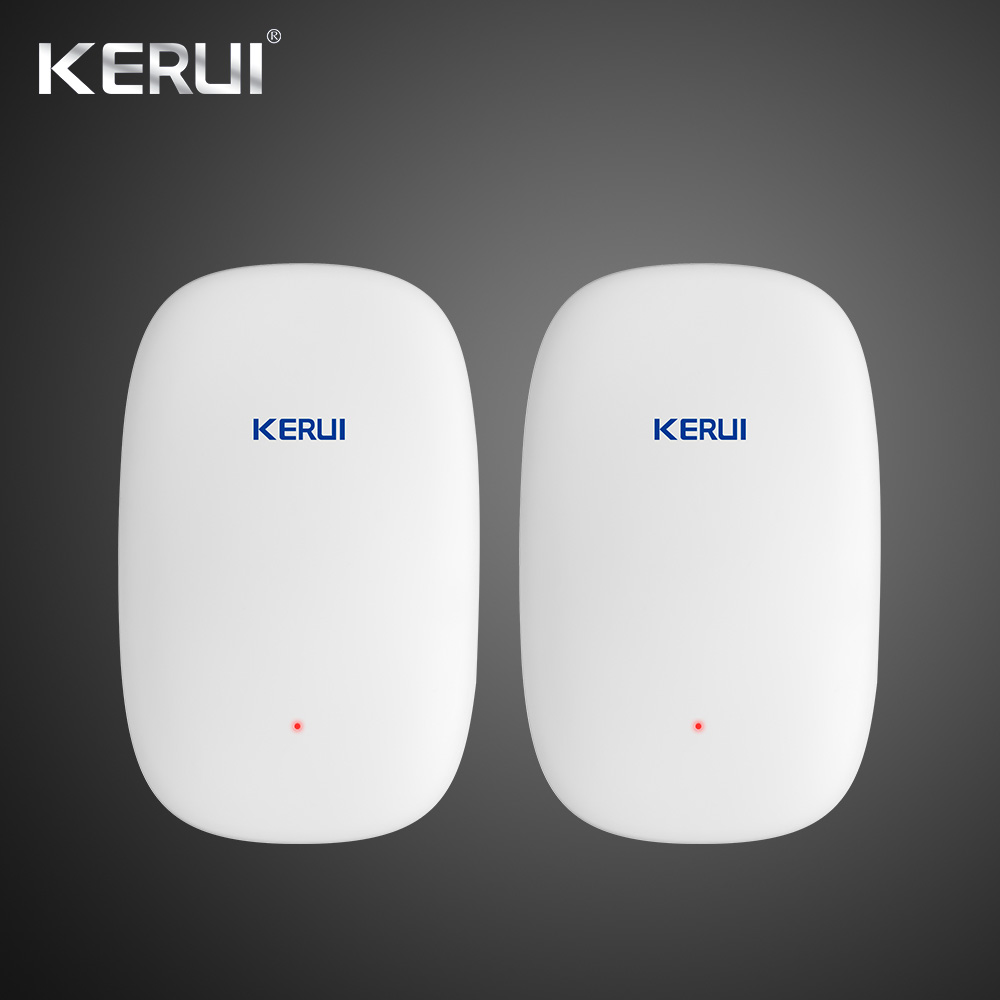 2018 Newest KERUI Z31 2PCS Wireless Vibration Detector Shock Sensor For Home Alarm System built-in Antenna Smooth Appearance wireless vibration break breakage glass sensor detector 433mhz for alarm system