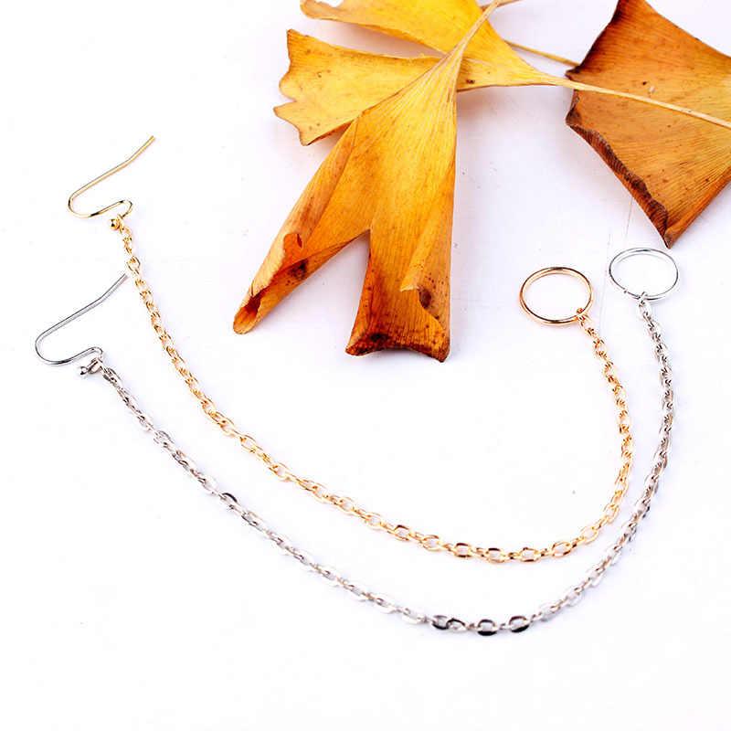 Punk indiano ouro prata cor nariz anel boêmio lantejoulas borla tragus piercing clipe orelhas nariz anéis para mulher jewely