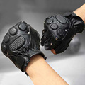 Fitness Gloves Men Real Leather Guante Real For Men Winter Solid Glove Exercise Trendy New Mitaines Men 's Gym gloves