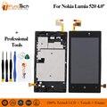 Für Nokia Lumia 520 RM-914 LCD Display Touchscreen Digitizer Montage Rahmen Ersatz Teile
