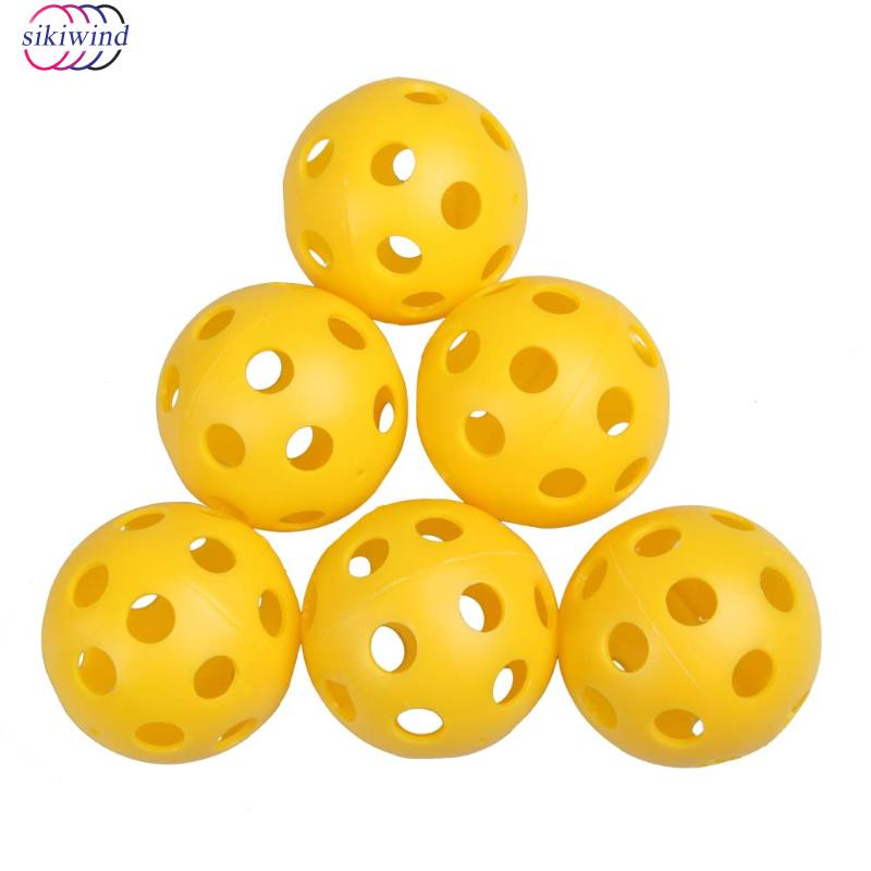 50Pcs Plastic Hollow Golf Balls Whiffle Airflow Hollow Golf Practice Training Aids Golf Training Ball DropShipping
