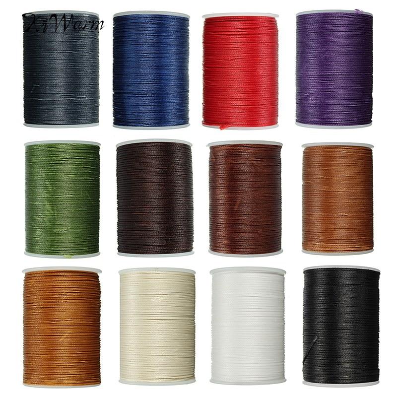 Dayanıklı 1 ADET 78 Metre 0.8mm Deri Mumlu Konu Kordon için DIY El Sanatları Aracı El Polyester Dikiş Ipliği Renkli