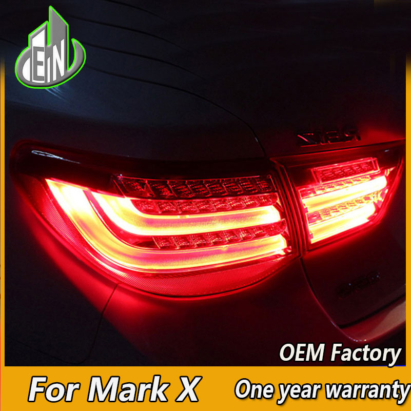 EN Car Styling For Toyota Reiz Tail Lights 2010 2011 2012 Mark X LED Tail Light Rear Lamp DRL+Brake+Park+Signal