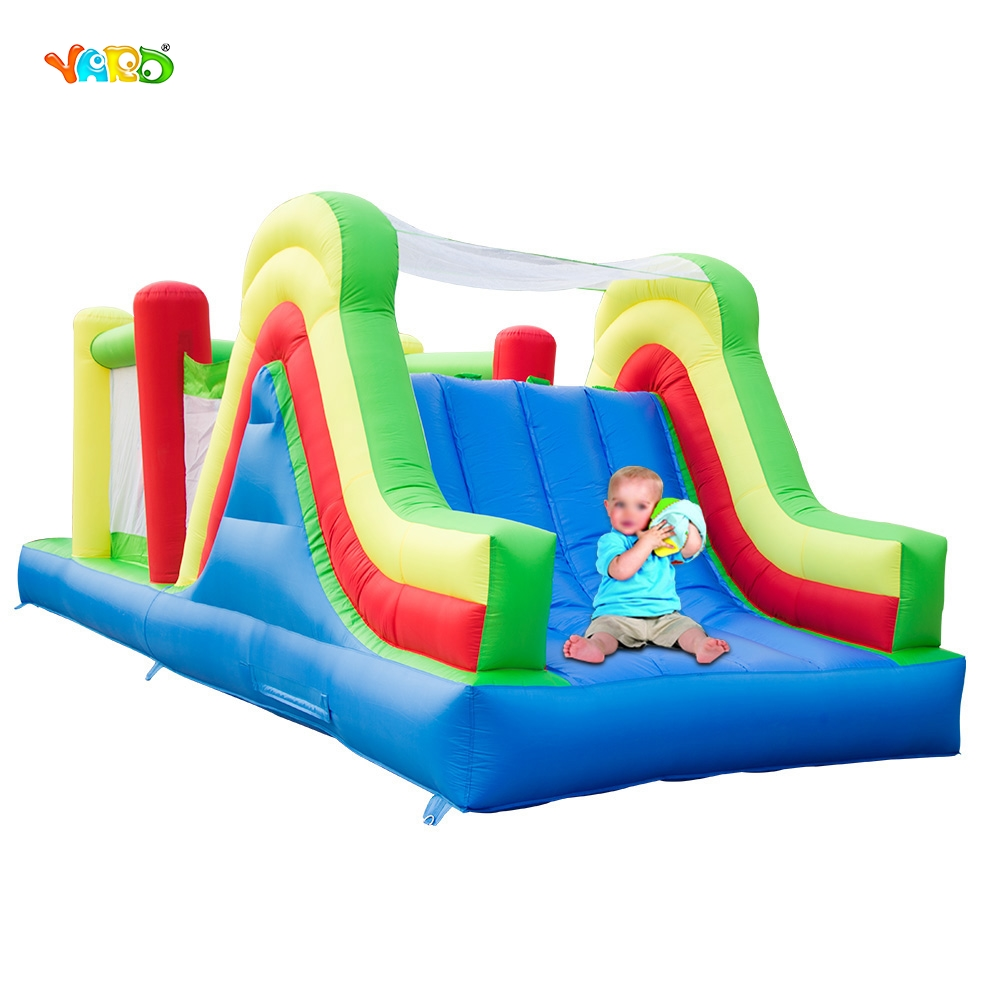 YARD Free Shipping Giant Inflatable Bouncer Bouncy Castle Jumping Obstacle Course Combo For Kids Exercise yard free shipping bouncy dream castle inflatable jumper bouncer 6 in 1 all round obstacle combo for home use