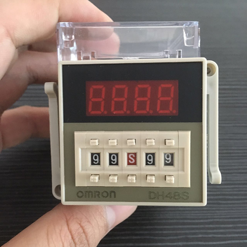 Free Shipping High Quality DH48S-2Z Timer Omron Digital Time Relay 0.1S-99 Hours Time Delay Relay dhl ems 2 lots omron automation h3bg n8h 100 120vac time delay