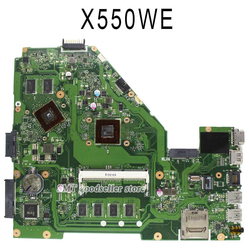 For Asus D552W D552 X550WE X550W D552W X550W Motherboard X550WE REV2.0 Mainboard Amd processor PN 60NB06E0 samsung rs 552 nruasl